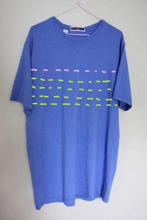 Переделка из мужской футболки в женскую лдежду