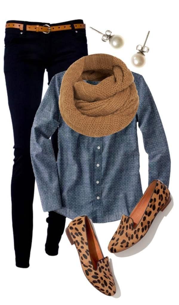 С чем носить женские туфли лоферы сеты одежды