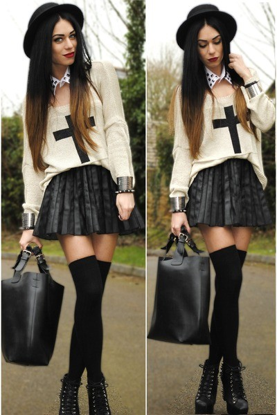 black-h-m-hat-black-romwe-bag-black-primark-skirt_400
