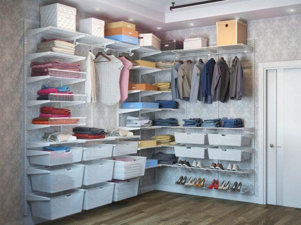 Для небольших гардеробных: сетчатые системы — практично и недорого!