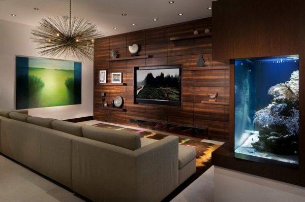 телевизор в гостиной