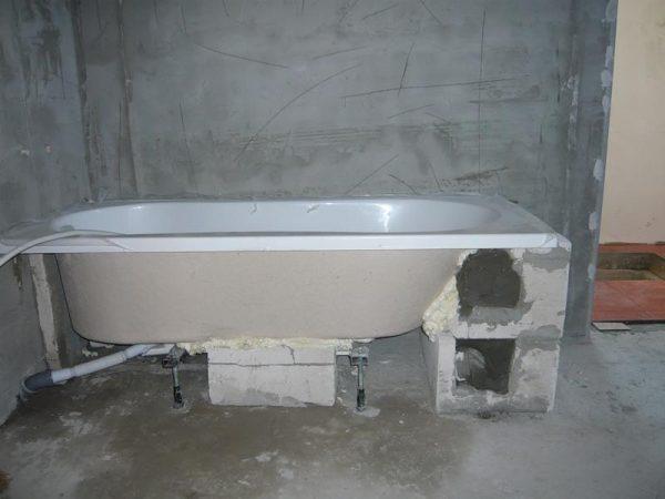 установка ванные
