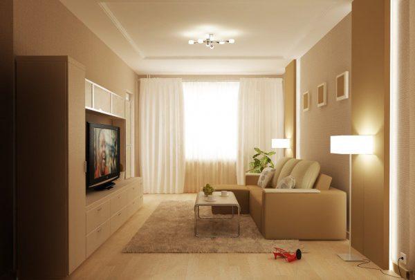 гостиная в малогабаритной квартире