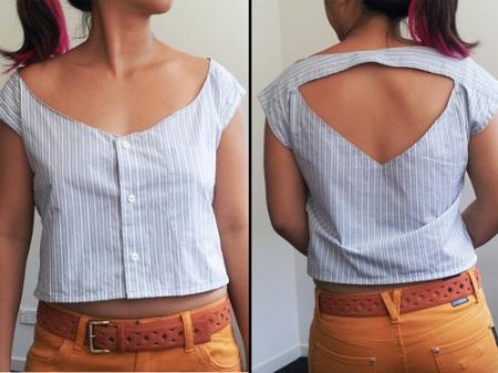 Переделки мужской рубашки, как переделать мужскую рубашку в женскую