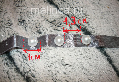 Как сделать простой браслет из лент и бусин мастер класс