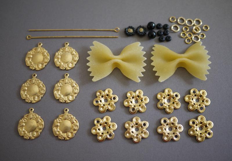 Как сделать серьги из макарон как у Dolce & Gabbana своими руками