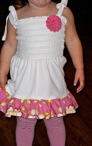 сшить простое детское платье быстро своими руками