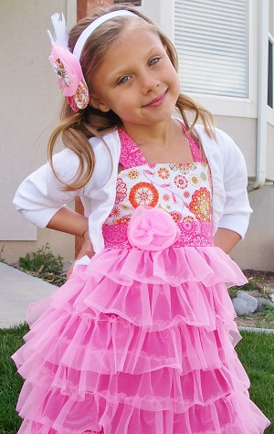 сшить простое детское платье быстро