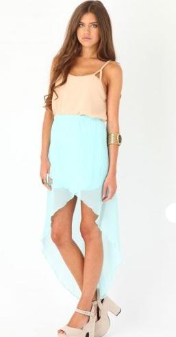 ассиметричная юбка на резинке
