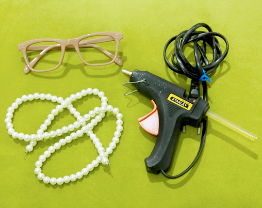 как украсить очки своими руками