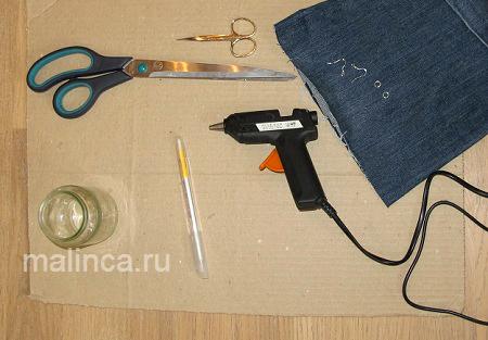 Мастер-класс: серьги из джинсы своими руками