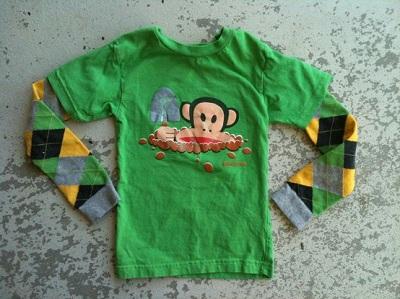 Переделка детской футболки