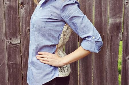 Как украсить джинсовую рубашку кружевом