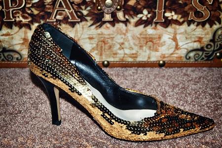 Мастер класс как украсить туфли пайетками своими руками
