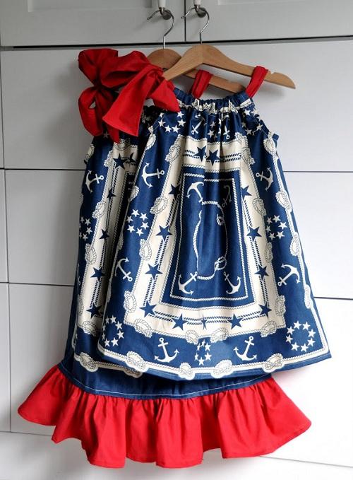 Мастер класс летнего детского платья DIY