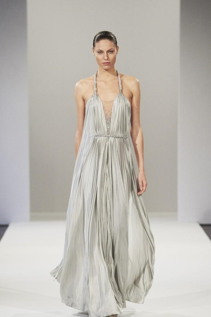Azzaro весна-лето 2013 серое длинное платье