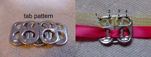 браслеты из крышек от жестяной банки
