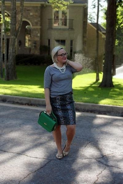 с чем и как носить юбку карандаш полным с формами