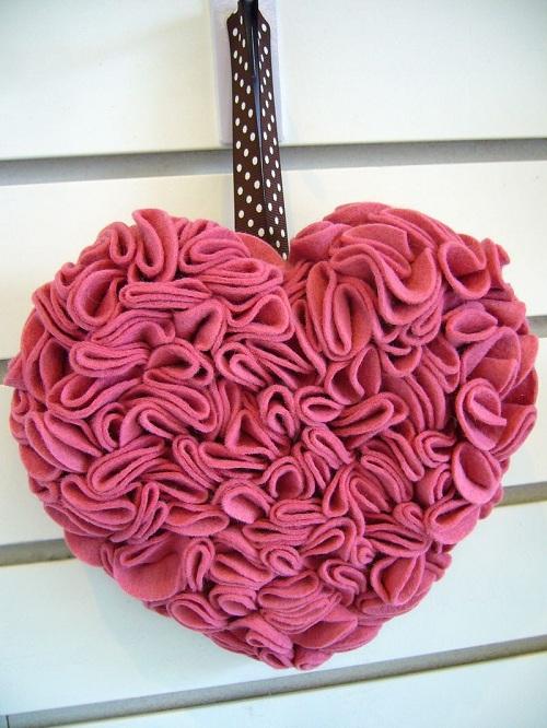 как сделать валентинку объемную из фетра