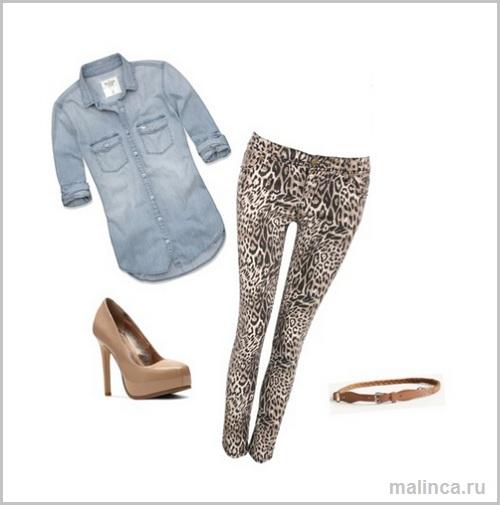 С чем носить леопардовые леггинсы - сеты одежды