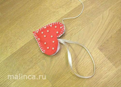 Мастер-класс валентинки из фетра