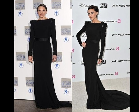 Знаменитости в одежде Victoria Beckham фото