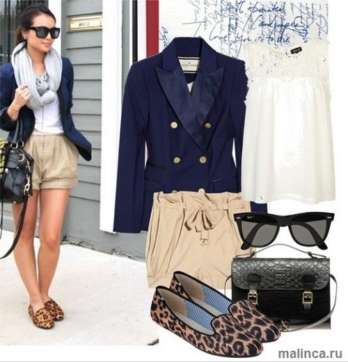 С чем носить леопардовые балетки - сеты одежды