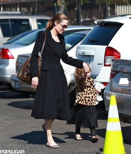 Анджелина Джоли, звезды в балетках