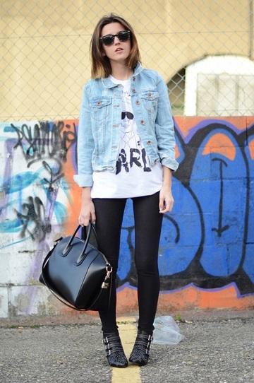 Джинсовая куртка фото - уличный стиль - street style
