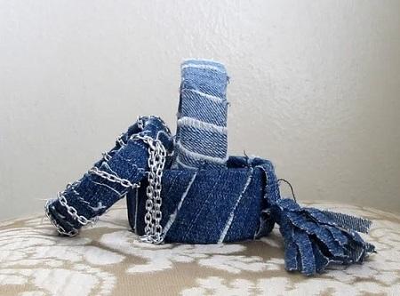 Бижутерия из джинсы