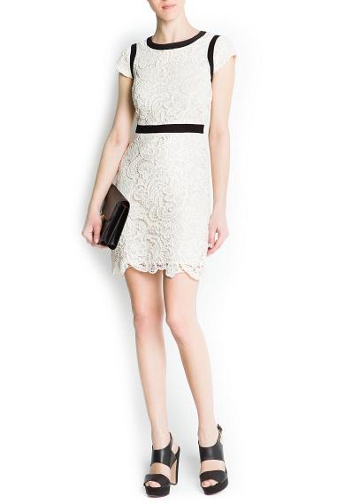 Платья из гипюра 2013 фото - mango платье 2013