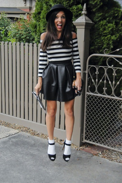 Черно белая одежда - фото