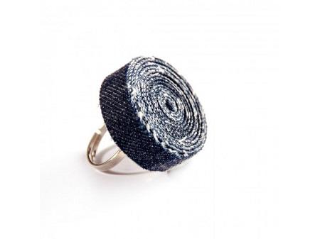джинсовая бижутерия - кольцо из джинсы