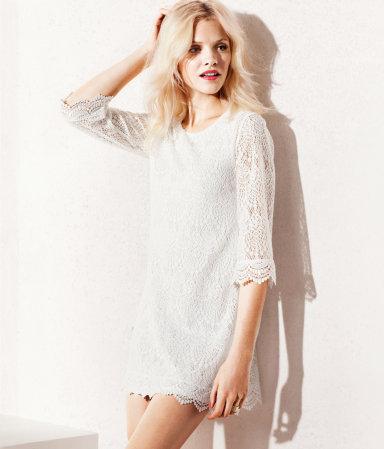 Платья из гипюра 2013 фото - платье h&m 2013
