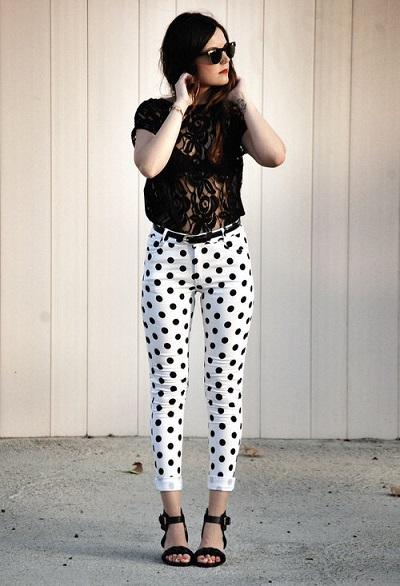 Черно белая одежда фото - черно белая одежда в горох