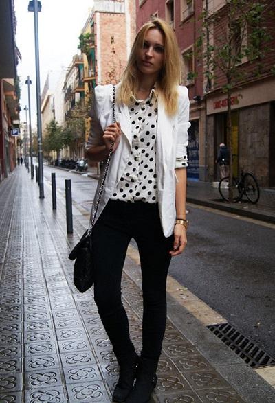 Черно белая одежда фото