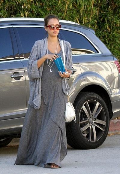 Джессика Альба - знаменитости в одежде богемный стиль