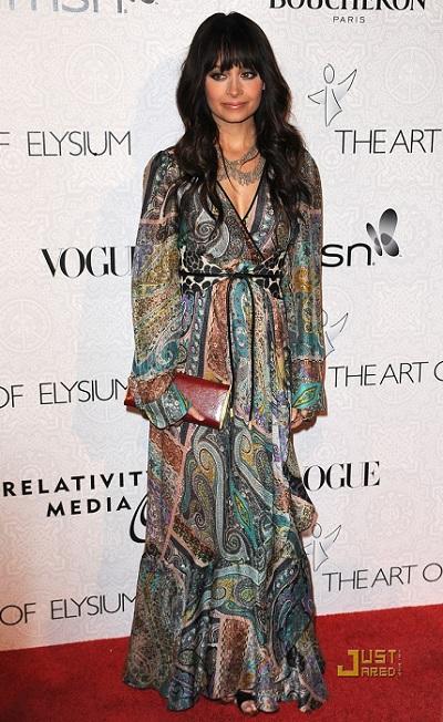 Николь Ричи - знаменитости в одежде богемный стиль
