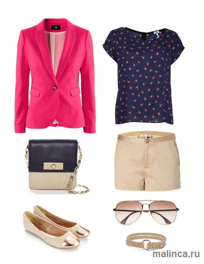С чем носить розовый пиджак - сеты одежды