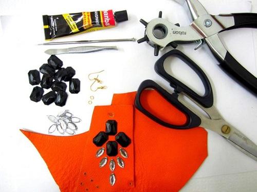 Серьги из кожи своими руками / как сделать сережки из кожи