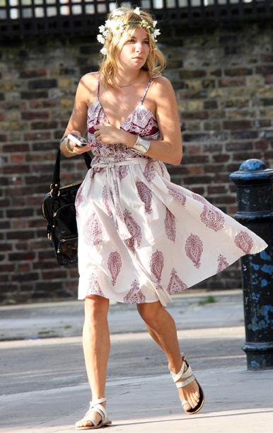 Сиенна Миллер - знаменитости в одежде богемный стиль