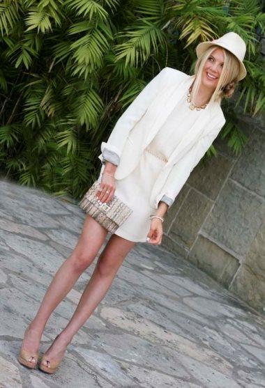 с чем носить белый цвет в одежде