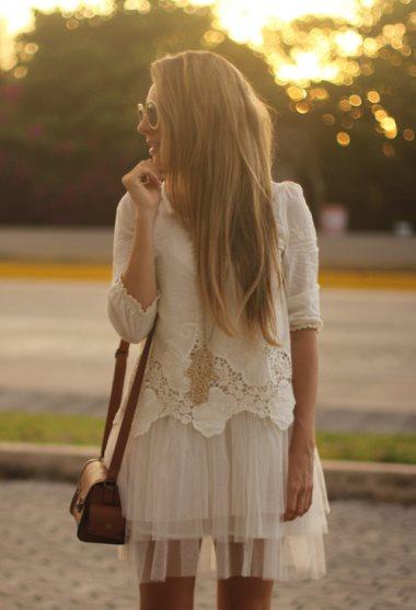 с чем носят белый цвет модные блоггеры