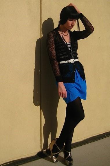 с чем носить юбку тюльпан фото