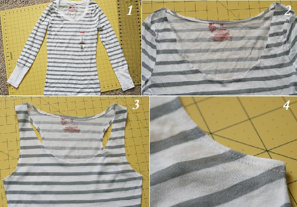 Как переделать футболку - переделка старой футболки