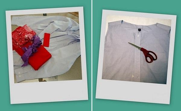 Переделка мужской рубашки в платье