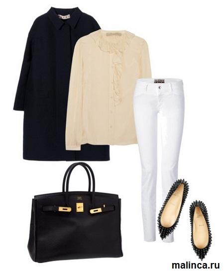 С чем носить белые джинсы, сеты одежды белые джинсы