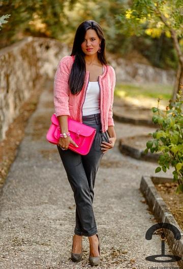 Розовый пиджак фото