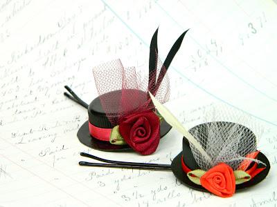 Шляпка заколка своими руками / Заколка для волос шляпка