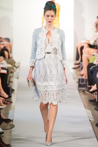 стильные платья лето 2013 Oscar de la Renta